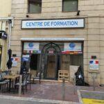 Pose enseigne dibond - Cannes - Centre de formation